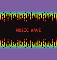 wave 3d rainbow pulse music player on black vector image
