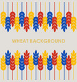wheat background vector image vector image