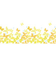 white border with yellow butterflies vector image vector image