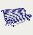 Wooden bench vector image vector image