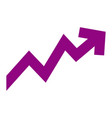 rising arrow increase price investment concept vector image