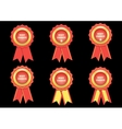 set best choice red label with ribbons vector image