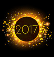 2017 new year celebration background with golden vector image vector image