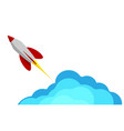 a rocket flying into space starting or starting vector image vector image
