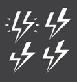 abstract cartoon comics stylized lightning vector image