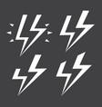 abstract cartoon comics stylized lightning vector image vector image