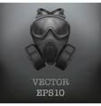 Background of Military black gasmask vector image vector image