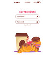 bakery products mobile application vector image vector image