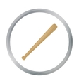Baseball bat icon in cartoon style isolated on vector image vector image