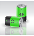 battery 4 vector image vector image