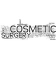beauty should you undergo cosmetic surgery text vector image vector image