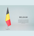 belgium hanging flag on stand template