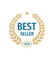 best seller badge logo design vector image vector image