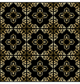 black background with golden ornament - seamless vector image