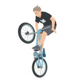 boy riding bicycle teenager on bike vector image vector image