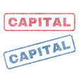 capital textile stamps vector image vector image