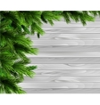 Christmas New Year design wooden background vector image vector image