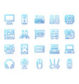 computer simple color line icons set vector image