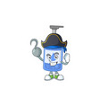 cool pirate handsanitizer style with one hook hand vector image vector image