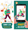 delivery service banners set vector image