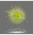 Explosion Cloud of Green Pieces vector image vector image