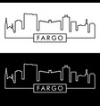 fargo skyline colorful linear style editable vector image vector image