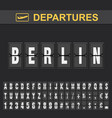 flight info destination germany flip alphabet vector image