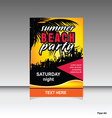 flyer of summer beach party vector image vector image