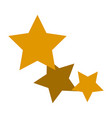 Gold stars icon favorite business internet trendy vector image