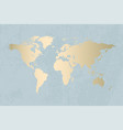 gold world map design vector image