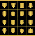 golden heraldic shields retro style borders vector image