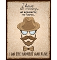 Hand drawn hipster poster print vector image vector image