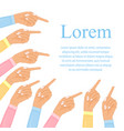 hand with pointing finger pointing fingers hand vector image