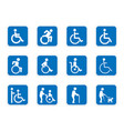 handicap icons disabled people vector image vector image