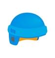 Hockey helmet isometric 3d icon vector image vector image