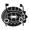 ice arena icon simple style vector image vector image