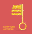 key success of business vector image vector image