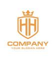 letter hh initial logo luxury logo design vector image vector image