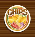 logo for potato chips vector image