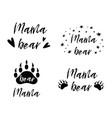 mama bear text collection black paw symbol