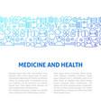 medicine health line design template vector image