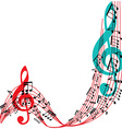 Music notes background stylish musical theme frame vector image vector image