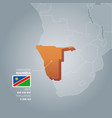 namibia information map vector image vector image