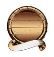 old wooden barrel vector image vector image