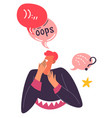 oops expression emotion personage chatting vector image