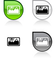 Picture button vector image vector image