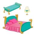 Princess Bedroom Furniture Set vector image vector image