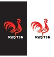 Rooster on white and black background vector image
