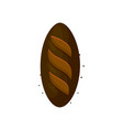 rye dark bread loaf icon vector image vector image
