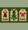 sale new year set of labels on vector image